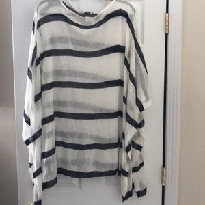 NWT Ralph Lauren navy/white striped knitted cape